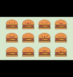 Burger emoji vector image vector image