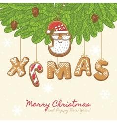 Christmas as gingerbread cookies vector