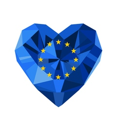 Crystal gem jewelry flag of the european union vector