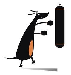Dog a boxer vector