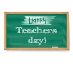 Happy teacher day school chalkboard with vector