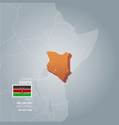 kenya information map vector image