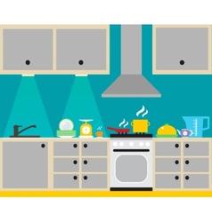 Kitchen interior poster vector image