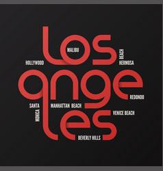 los angeles design typography print logo vector image