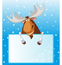 moose place card vector image vector image