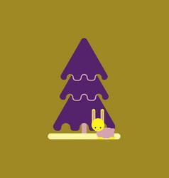 New year tree christmas tree vector