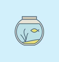 Round home aquarium icon vector