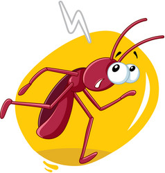 Running cockroach insect cartoon vector