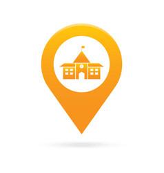 school map pointer icon marker gps location flag vector image vector image