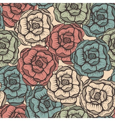 seamlesss Floral pattern vector image
