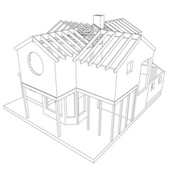 sketch house on the white background eps vector image