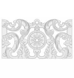 Vintage baroque geometry floral ornament vector image vector image