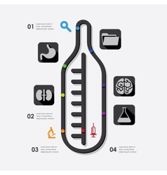 medicine infographic vector image