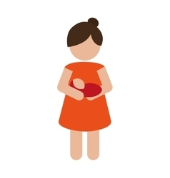 Woman carrying baby icon vector