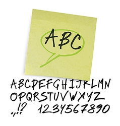 Marker alphabet uppercase vector