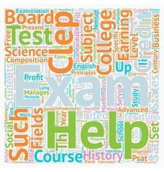 Clepp exam text background wordcloud concept vector
