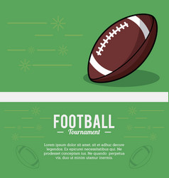 american football tournament ball sport vector image