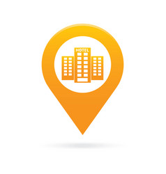 hotel map pointer icon marker gps location flag vector image