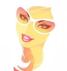 summer women blond vector image