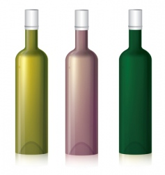 Multicolored bottle samples vector