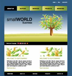 website template vector image