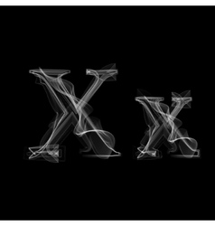 Smoke font letter x vector