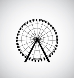 Ferris wheel from amusement park silhouette vector