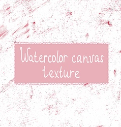 Pink watercolor canvas background or texture vector