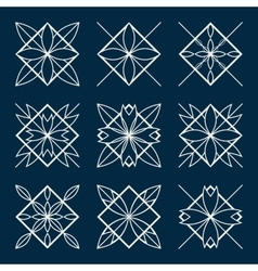 Lineart ornamental geometric symbols vector