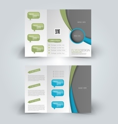 Trifold brochure design template vector