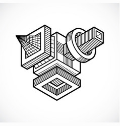 Abstract isometric dimensional shape vector