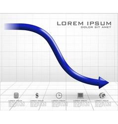 Arrow down graph vector