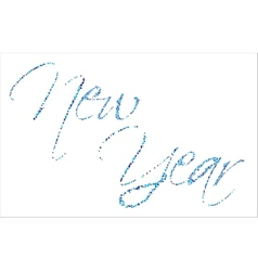 backgrond New Year vector image