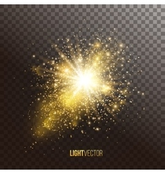 Background with sparkles and glitter vector image vector image