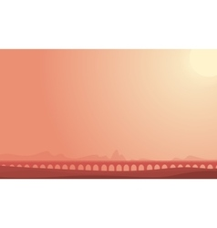 Bridge on desert landscape backgrounds vector