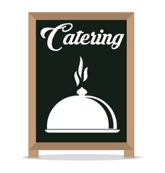 Catering service restaurant cloche board vector