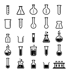 Chemical tube vector image