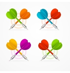 Color Darts Set vector image