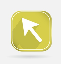 Color icon with shadow web arrow vector image vector image