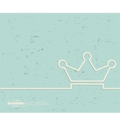 Creative crown Art template vector image vector image