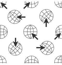 go to web icon seamless pattern globe and cursor vector image vector image