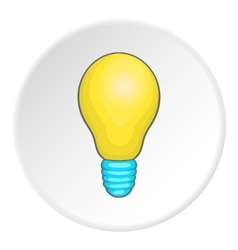Lamp icon cartoon style vector image