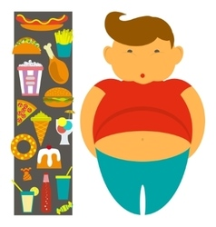 Obesity infographic template vector