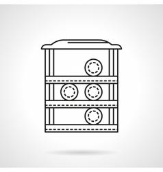 Pool rack flat line icon vector