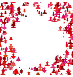 Random pine tree forest pattern background - vector