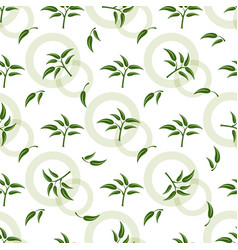 Seamless pattern with green sprigs vector
