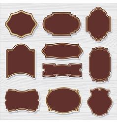 set 2 of design elements sample labels shapes vector image