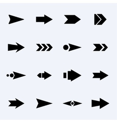 set of black arrows on a light background vector image