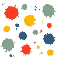 Set of blots vector