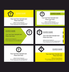 Set of christian visit cards vector